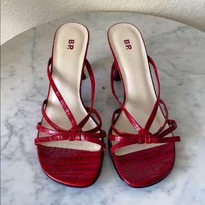 B.P upper leather sandals  kitten heel